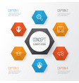hr icons set collection of location find vector image vector image