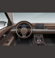 interior inside car with vector image