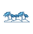 island with palms symbol vector image vector image