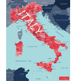 italy country detailed editable map vector image vector image