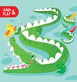 kid game coloring crocodile printable worksheet vector image vector image