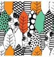 Leaves hand drawn seamless pattern vector image