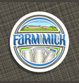 logo for farm milk vector image vector image