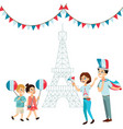 man and woman on national holiday france people vector image vector image