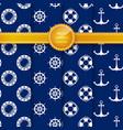 marine summer pattern vector image