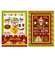 mexican cinco de mayo party invitation banner vector image vector image