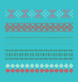 norwegian traditional ornament borders with geome vector image vector image