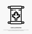 note autumn canada leaf line icon vector image