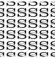 pattern letter s vector image vector image