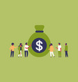 people group standing money dollar bag growth vector image