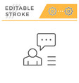 person speech editable stroke line icon vector image