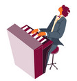 pianist playing classical music piano player vector image vector image