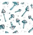 Poisonous Mushrooms Seamless Pattern Cartoon vector image vector image