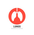 red lungs diagnostic center logo vector image