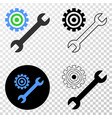 repair tools eps icon with contour version vector image vector image