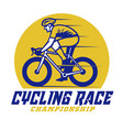 roadbike cycling race championship event badge vector image vector image