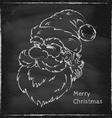 Santa chalk vector image vector image