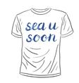 Sea u soon lettering vector image vector image