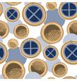 seamless pattern ancient maltese circular vector image vector image
