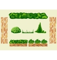 Set for landscape design vector image vector image