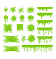 slime set vector image vector image