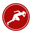 sports sign icon start woman runner vector image