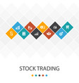 stock trading trendy ui template infographics vector image