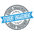student engagement round grunge ribbon stamp vector image vector image