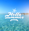 Summer holiday - Type design vector image vector image