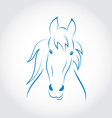 Symbol outline head horse vector image vector image