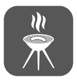 The grill icon Barbeque symbol Flat vector image vector image