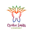 tooth health and cannabis leaf logo design vector image vector image
