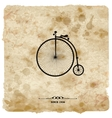 Vintage postcard Retro bicycle on Grunge vector image vector image