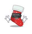 virtual reality christmas stocking character vector image vector image