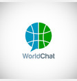 world chat technology logo vector image vector image