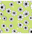 Flower seamless pattern floral background vector image