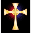 Gold cross vector image