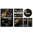 Holiday Merry Christmas party layout poster vector image