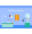 Bathroom interior with Sink and mirror Colorful vector image