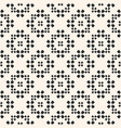 seamless pattern floral geometric ornament vector image