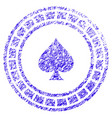casino roulette icon grunge watermark vector image