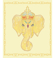 Creative of Hindu Lord Ganesha vector image