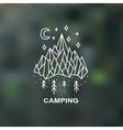 Hand drawn mountain emblem logo vector image