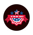 4th july independence day american flag stars vector image vector image