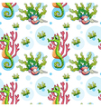 A seamless underwater design vector image vector image
