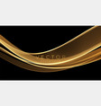 abstract shiny color gold wave luxury background vector image vector image