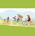 active holidays father and daughter are riding vector image vector image