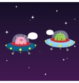 Aliens in space vector image