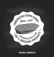 american corn farm badge or label vector image