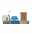 automatic rising up barrier automatic system gate vector image vector image